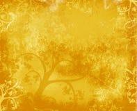 背景金结构树 库存例证