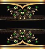 背景金黄装饰品 皇族释放例证
