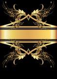 背景金黄装饰品 库存图片