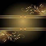 背景金黄装饰品 向量例证