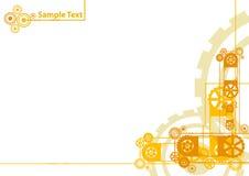 背景钟表机构徽标范例 免版税库存照片