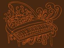 背景钢琴 库存图片