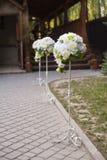 背景钮扣眼上插的花看板卡装饰装饰邀请婚姻白色的珍珠玫瑰 免版税库存照片