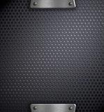 背景钻孔了金属模板 免版税图库摄影