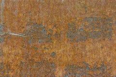 背景铁金属片生锈的表面纹理 库存照片