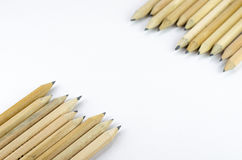 背景铅笔空白木 库存照片