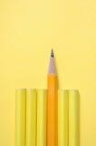 背景铅笔被削尖的黄色 库存图片