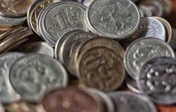 背景铸造货币 免版税库存图片