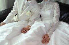 背景镜象婚礼白色 库存照片