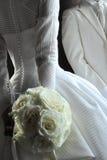 背景镜象婚礼白色 免版税图库摄影