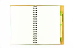 背景镜象查出的笔记本白色 免版税库存图片