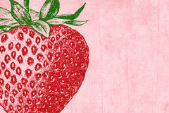 背景闪烁剪贴薄草莓 免版税库存图片