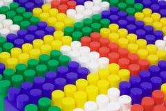 背景阻拦lego 免版税库存图片