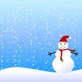 背景雪人冬天 免版税库存图片