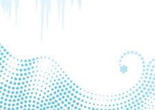 背景雪花漩涡向量冬天 库存例证