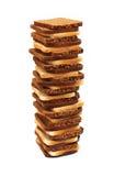 背景面包查出的大面包白色 图库摄影