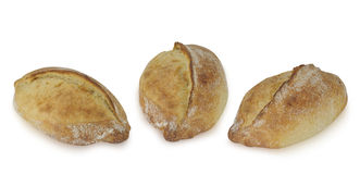 背景面包查出的大面包白色 免版税库存图片