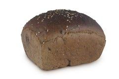 背景面包查出的黑麦白色 免版税库存照片
