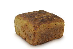 背景面包查出的黑麦白色 图库摄影