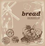 背景面包框架全景 免版税图库摄影