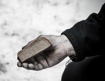 背景面包现有量查出的白色 图库摄影