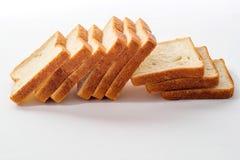 背景面包被切的白色 免版税库存图片