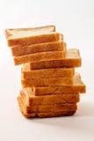 背景面包被切的白色 免版税图库摄影