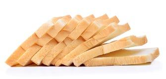 背景面包被切的白色 库存图片