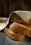 背景面包褐色查出的白色 库存图片