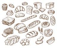 背景面包食物图象我其他看到白色 免版税库存照片