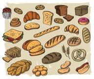 背景面包食物图象我其他看到白色 免版税图库摄影