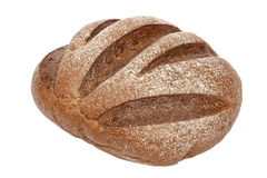 背景面包黑麦白色 库存图片