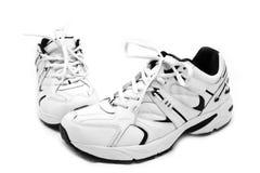 背景鞋子炫耀的白色 免版税图库摄影