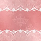 背景鞋带粉红色白色 库存照片