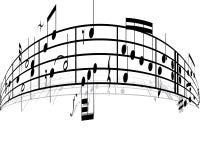背景音乐 免版税库存图片