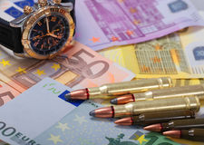 背景项目符号欧洲手表 免版税库存图片