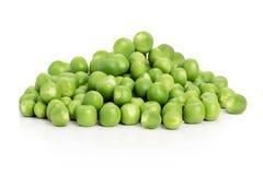 背景项目符号绿豆荚白色 图库摄影
