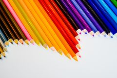 背景颜色上色了查出的铅笔铅笔空白 关闭 复制空间 免版税库存图片