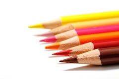 背景颜色上色了查出的铅笔铅笔空白 关闭 图库摄影