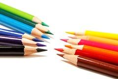 背景颜色上色了查出的铅笔铅笔空白 免版税库存照片