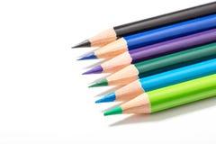 背景颜色上色了查出的铅笔铅笔空白 库存图片