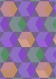 背景颜色求绿色的立方 库存照片