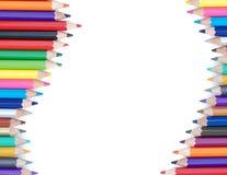 背景颜色铅笔 免版税库存照片