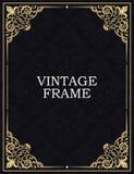 背景颜色黑暗的装饰框架金子红色 传染媒介葡萄酒模板 过去组合图案,最初,首饰 库存例证