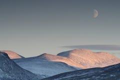 背景风景横向的月亮 库存图片