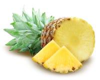 背景饮料概念节食食物医疗保健查出的营养菠萝成熟白色 免版税库存照片
