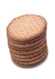 背景饼干查出白色 免版税图库摄影