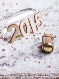 背景香槟黄柏查出的白色 库存照片