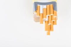 背景香烟查出的对象装箱白色 免版税图库摄影