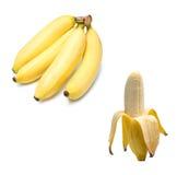 背景香蕉束查出的白色 免版税图库摄影